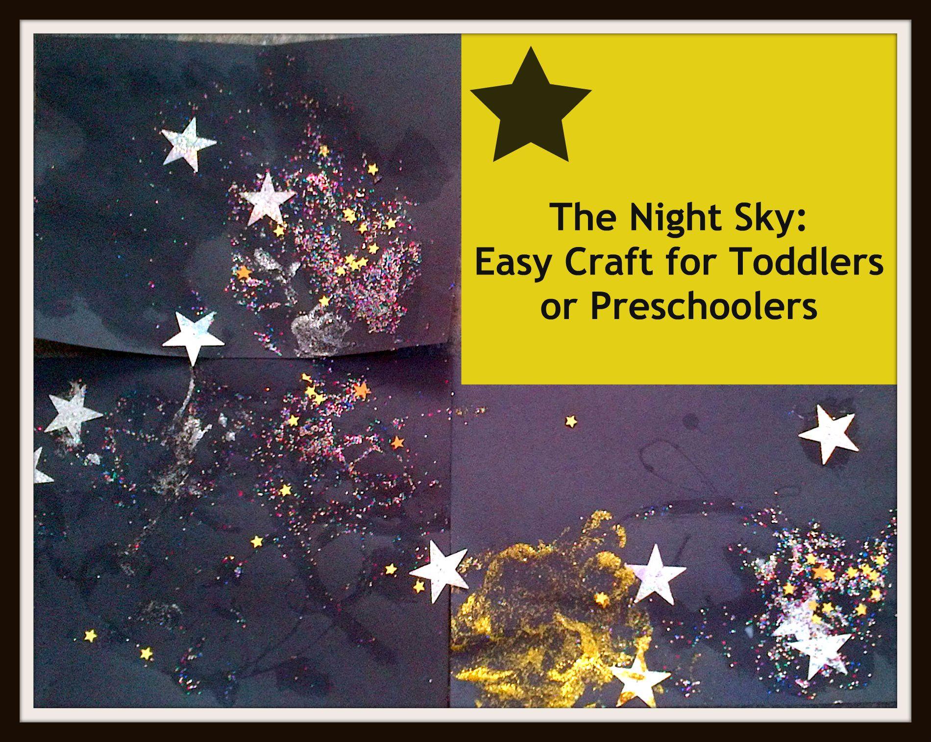 The Night Sky: Toddler & Preschooler Craft