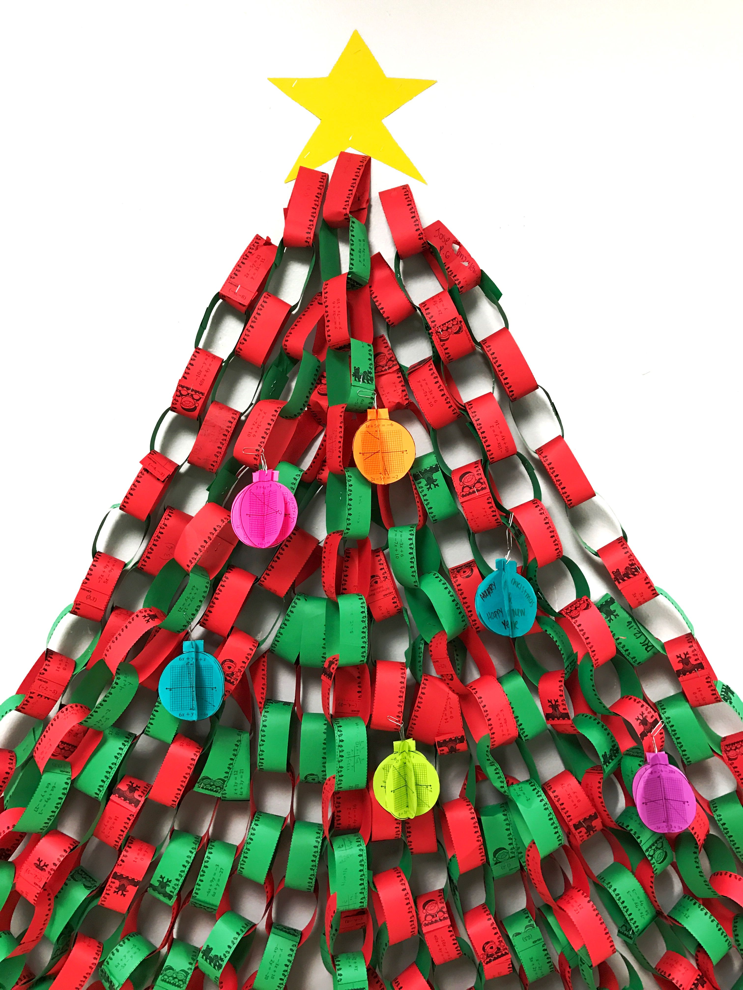 Christmas Algebra Solving Systems Of Equations 3d Garland And Ornaments Bundle Christmas Algebra Christmas Math Systems Of Equations