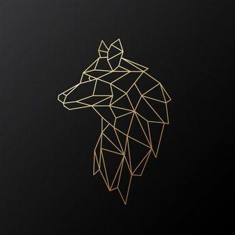 Geometrischer Goldwolf #skizzenkunst
