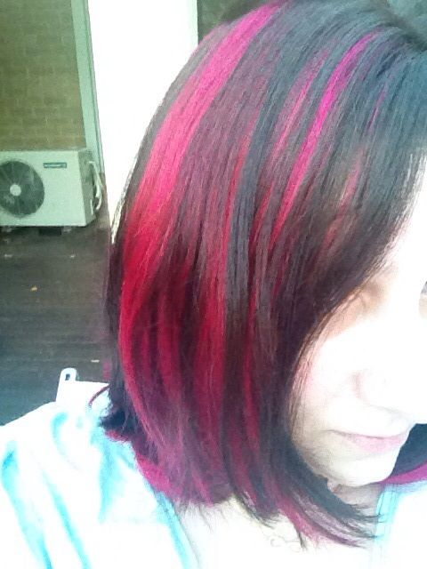 Pink Highlight Hair Hair Colour Pinterest Pink Highlights