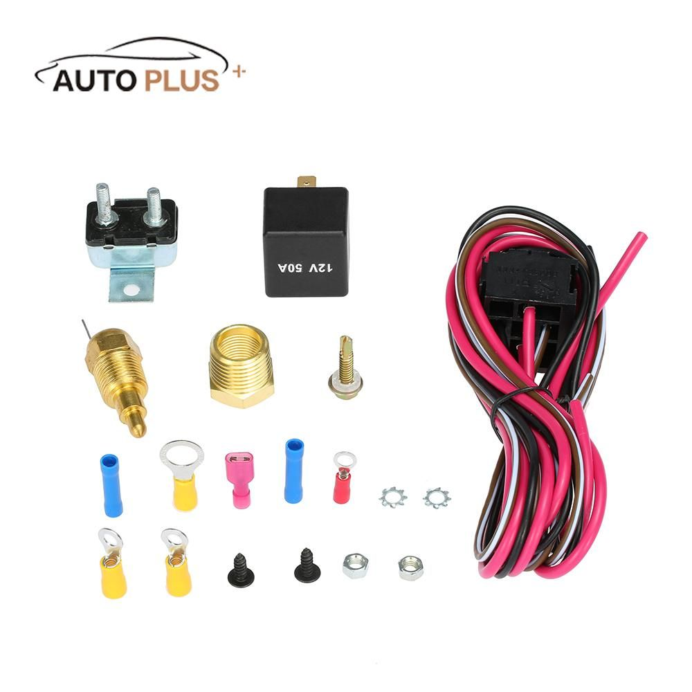Sale Car Electric Cooling Fan Wiring Cable Install Kit