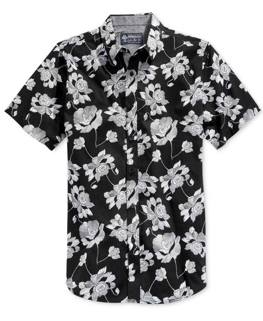 a4723c0e0 American Rag Danziger Popover Floral-Print Short-Sleeve Shirt