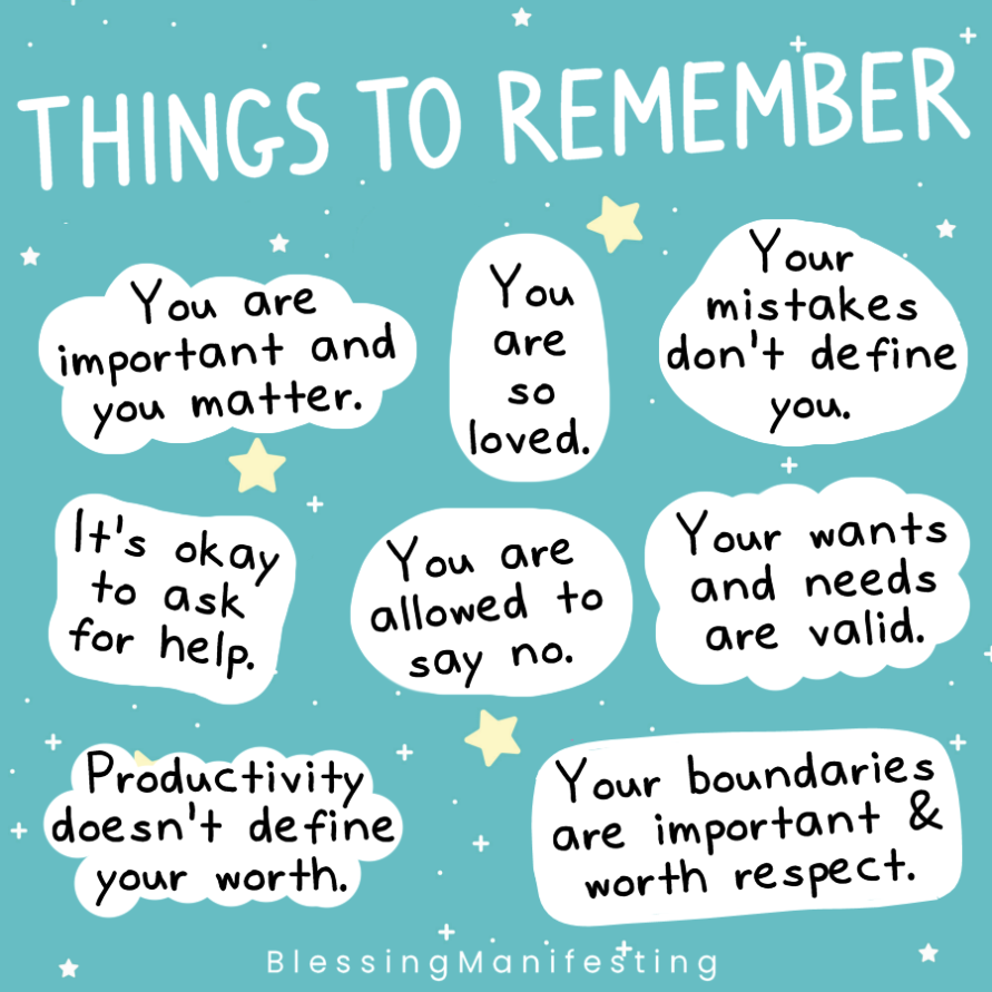 10 Amazing Self-Care Charts You Need to See - Watersedge