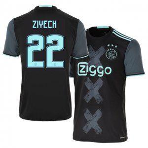 on sale 0efe9 d28b7 16-17 Ajax Cheap Away #22 Ziyech Replica Football Shirt ...
