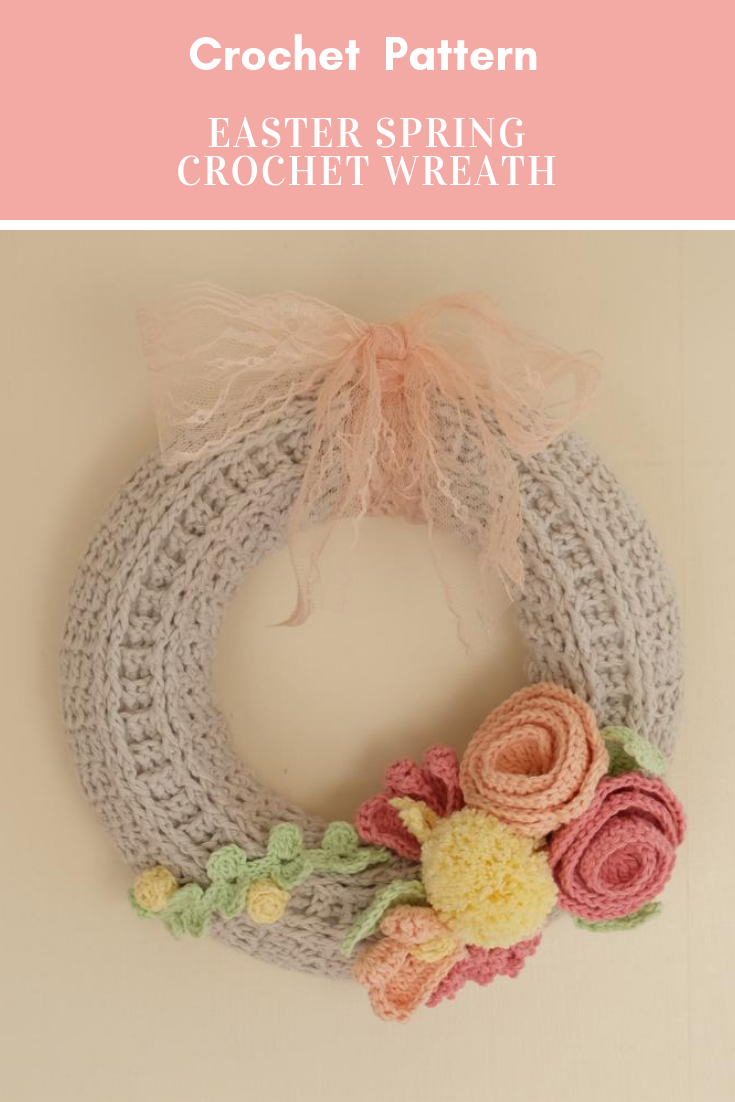 Photo of Easter Spring Crochet Wreath Pattern PDF Download Flowers