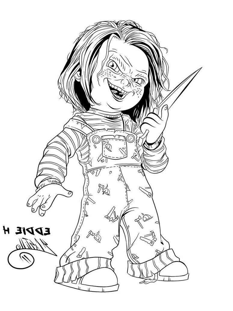 Chucky Coloring Pages Skull Coloring Pages Halloween Coloring