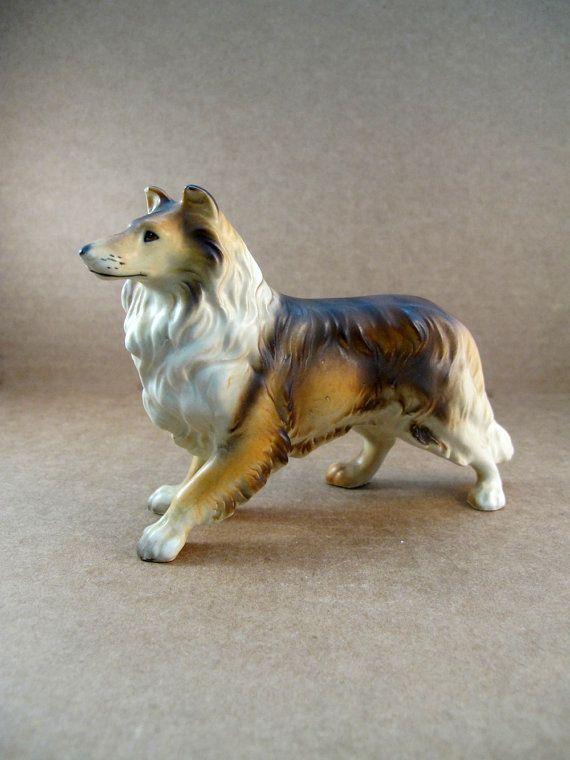 Vintage Collie Figurine Vintage Dog Dog Lovers Collie