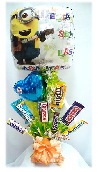 #Arreglo con #Chocolates #Minnions!! #Estas son las #Mañanitas!!