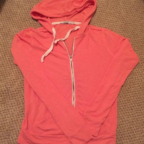 Adorable pinky orange hoodie Adorable pinky orange hoodie. Worn once. Abbot + Main Tops Sweatshirts & Hoodies