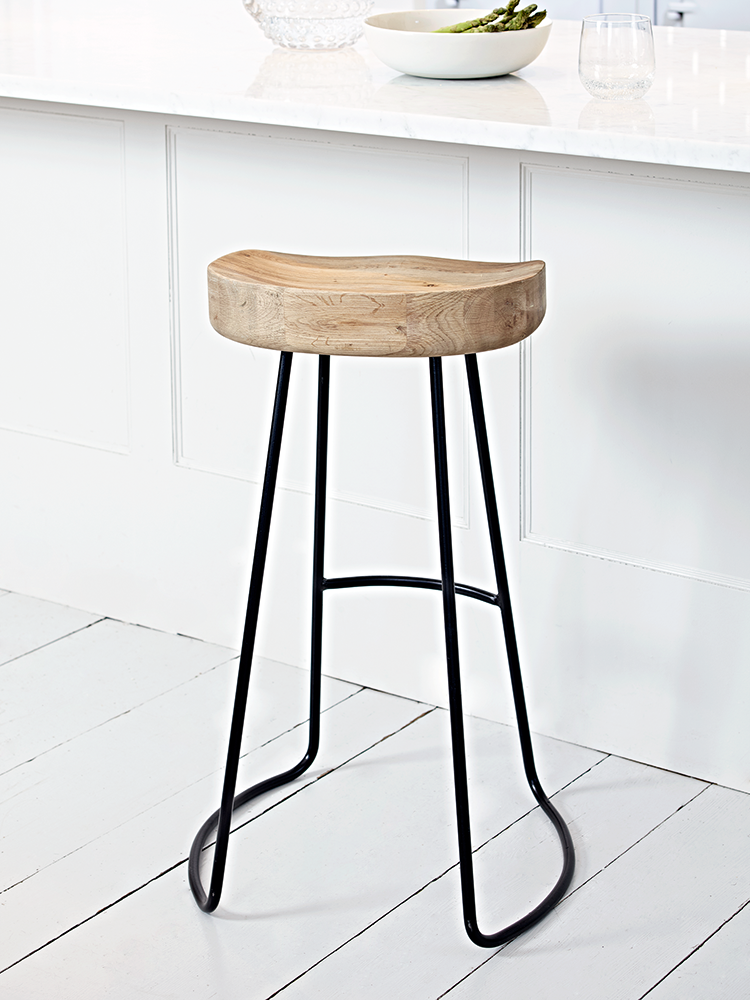 A contemporary twist on our bestselling Weathered Oak Stool this stylish high stool features natural. Oak Bar StoolsIsland StoolsKitchen ...  sc 1 st  Pinterest & A contemporary twist on our bestselling Weathered Oak Stool this ... islam-shia.org