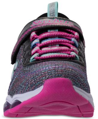 a6e44f5a94703c Skechers Little Girls' S Lights: Glimmer Lights Light Up Athletic Sneakers  from Finish Line - BLACK/MULTI 1