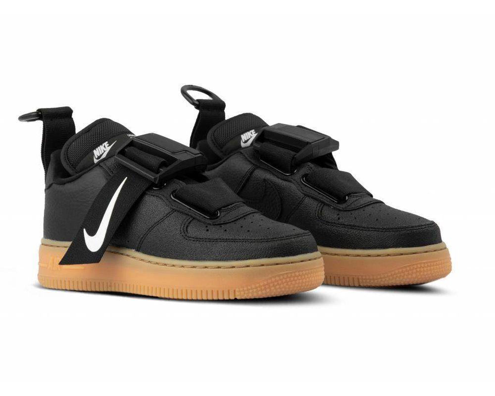 Nike Air Force 1 Utility Black White Gum Med Brown AO1531