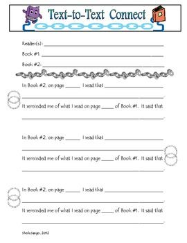 Text to Text Connections worksheet | Text connections, Worksheets ...
