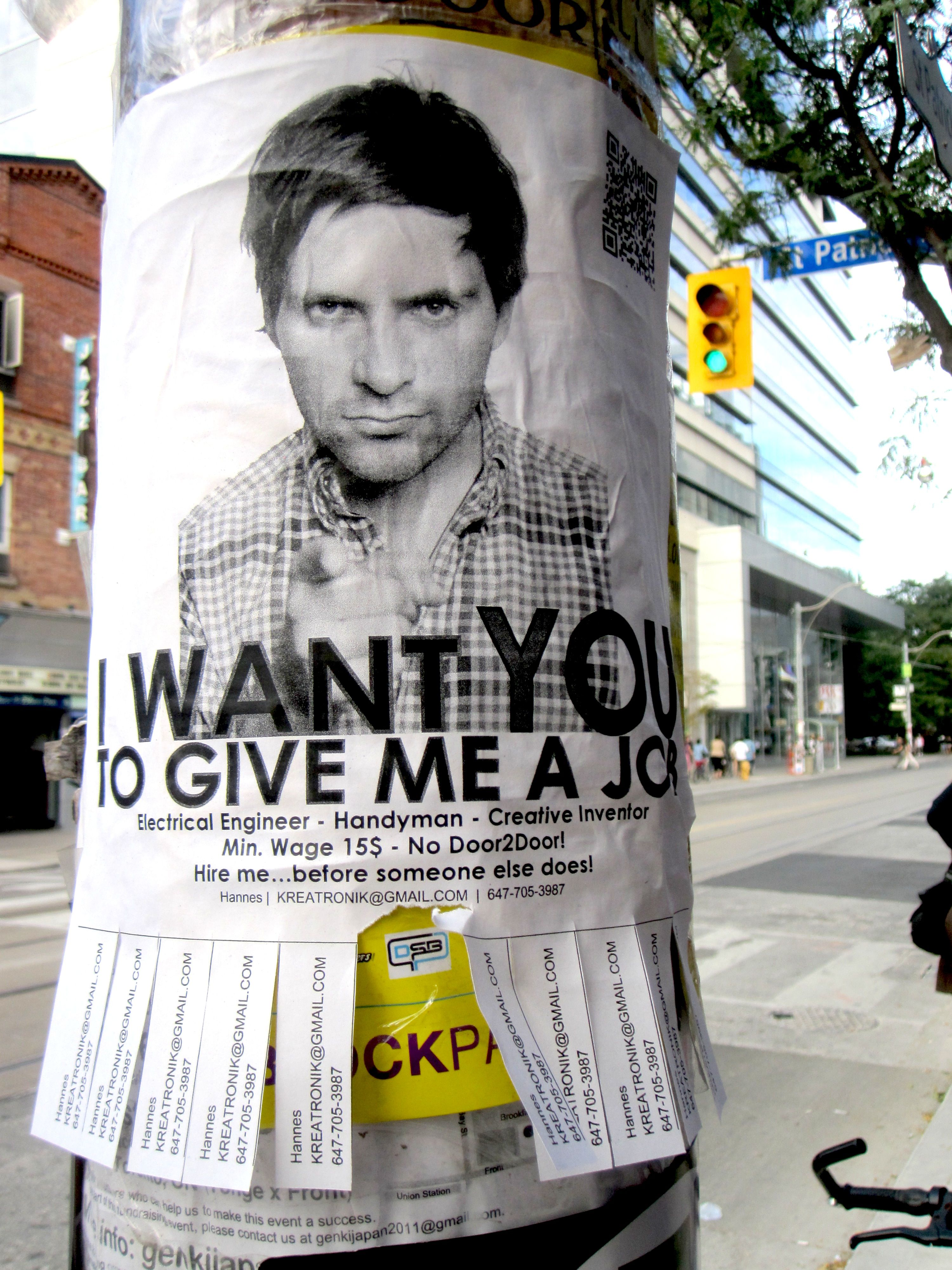 Job search in Canada. Cute! I would do this as well as stand on a ...