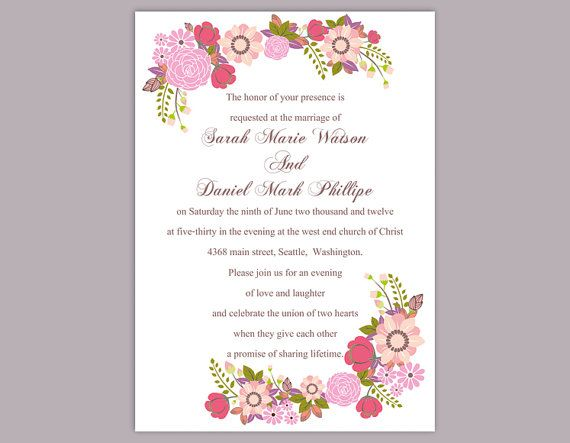 Wedding Card Template Roses Lace Crochet Doily Wedding Invitation X