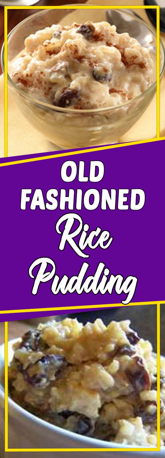 OLD FASHIONED RICE PUDDING #dessert #dessertrecipes # ...