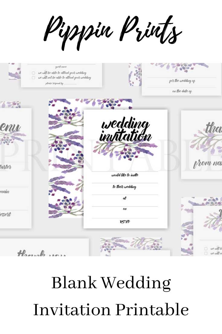 Lavender Wedding Invitation Printable Printable Wedding Invitations Engagement Party Invitations Party Invitations Printable
