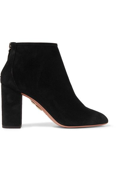 outlet with paypal order online enjoy cheap price Aquazzura Black Downtown 90 Suede Ankle Boots get to buy sale online discount under $60 dlRPX4s