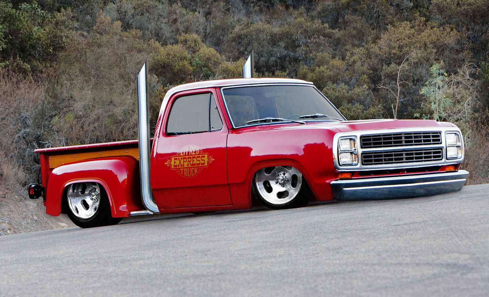 ❦ 79' Dodge Little Red Express - shaved, channeled & bagged (shopped) by rubrduk