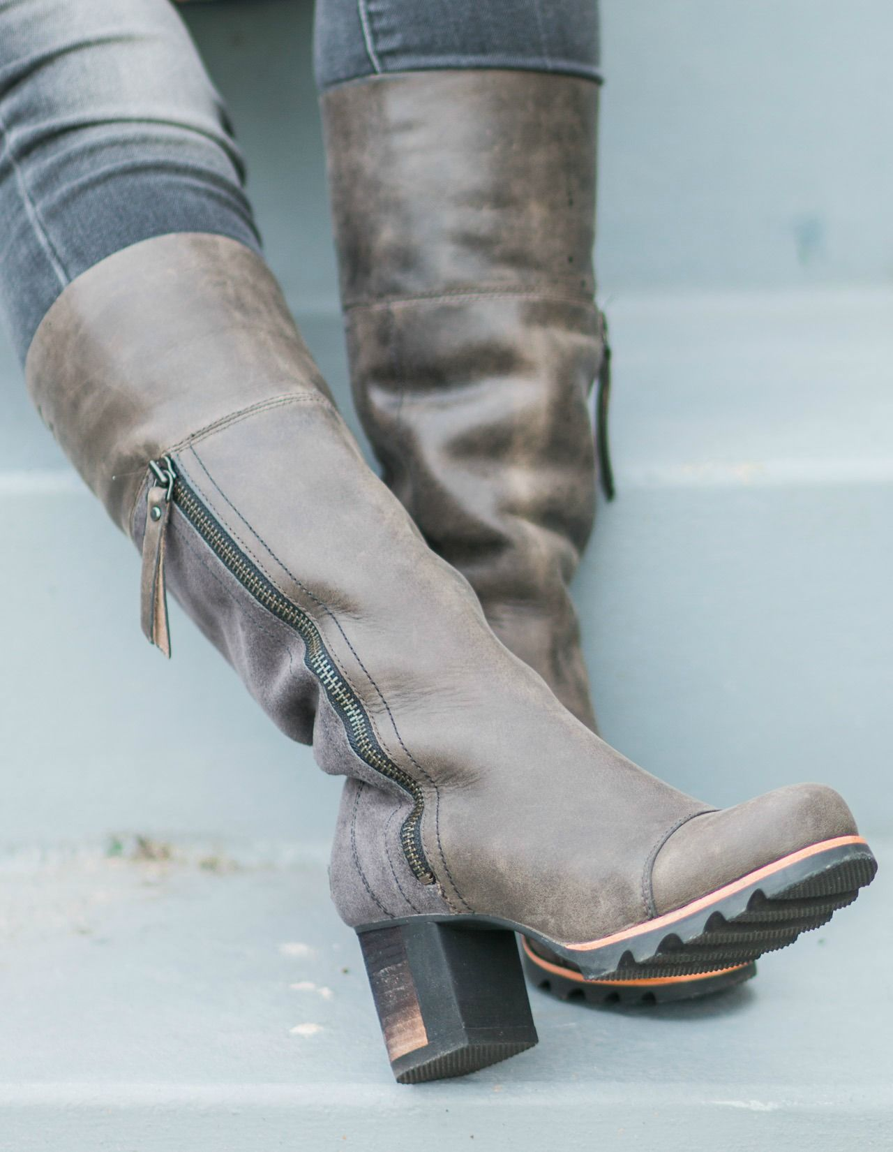 SOREL Addington Tall Boots in dark grey