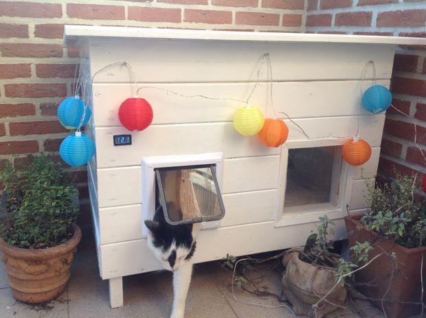 solar powered cat house home pets pinterest insulated cat rh pinterest com