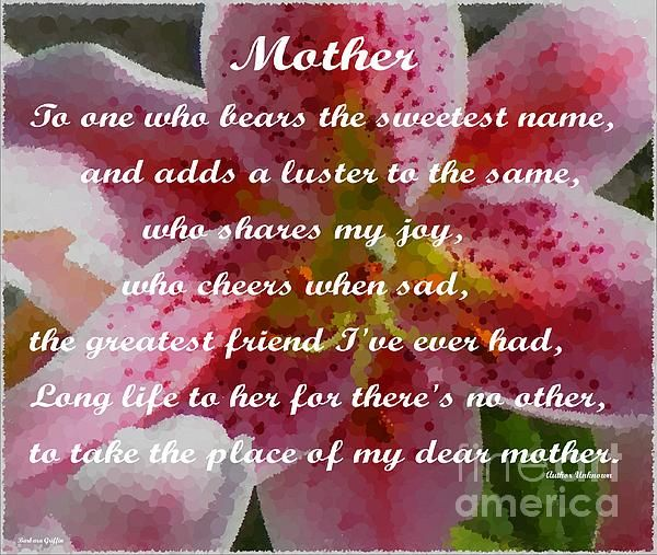 Mothers day greetings by Barbara Griffin
