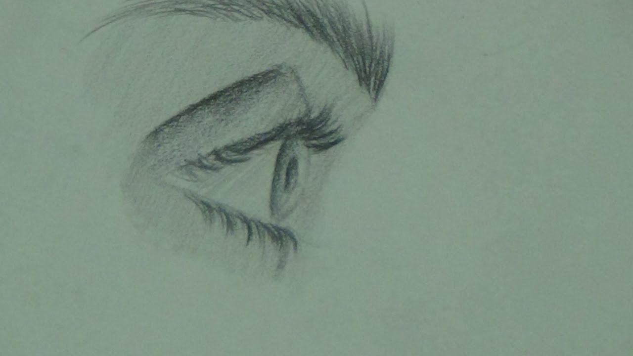 تعليم الرسم للمبتدئين كيفية رسم العين من الجانب بطريقة بسيطة جدا Youtube Art Drawings Art Male Sketch
