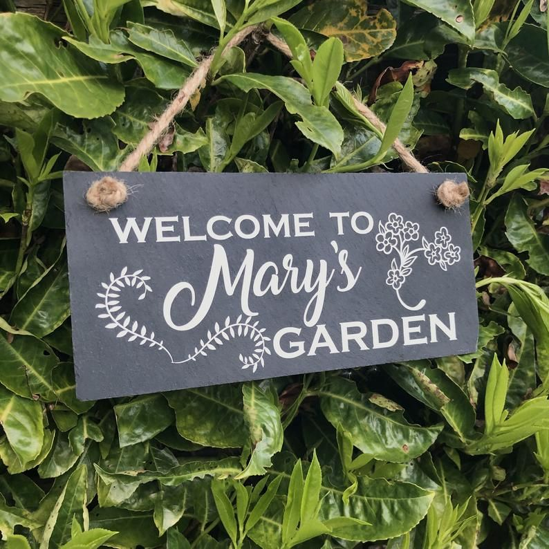 Personalised Garden Sign Gardening Gift Welcome To My Garden Slate Sign Suitable For Outdoor Use Garden Signs Garden Gifts Slate Signs