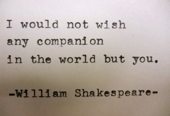 Shakespeare Love Quotes Endearing William Shakespeare Love Quote Typed On Typewriter Love Quote