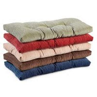 Chenille Tufted Bench Cushion 27 X 14 X 2 1 2 Indoor Bench Cushions Bench Cushions Bench Seat Cushion