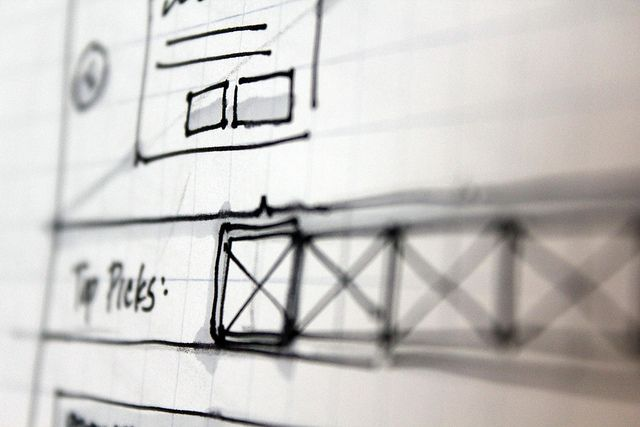 Sketched Wireframe