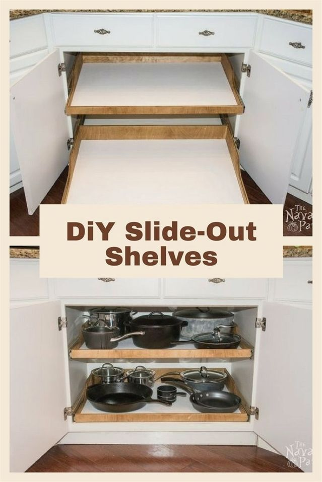 diy slide out shelves a husband and wife want more kitchen cabinet rh pinterest com
