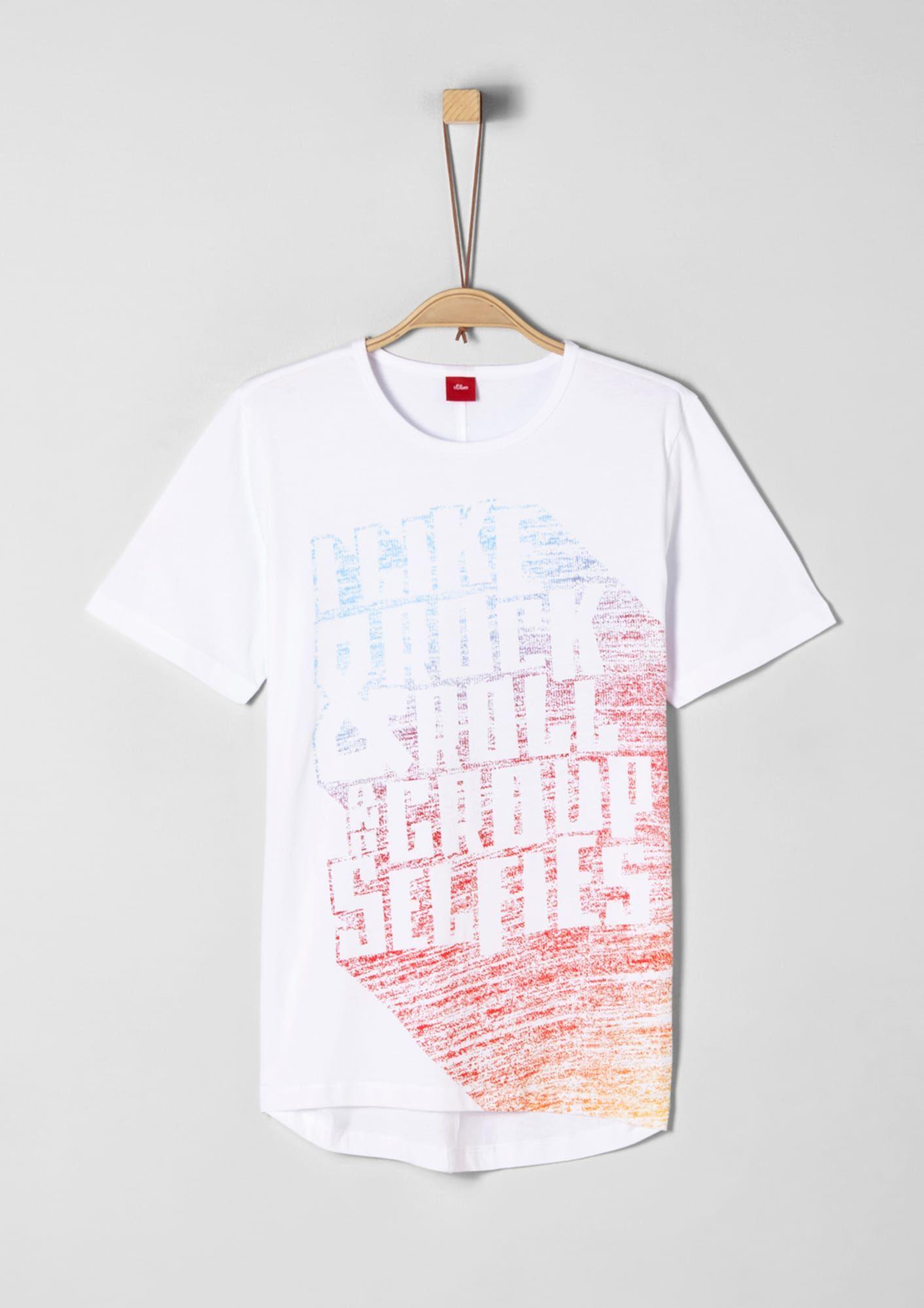 S Oliver Junior T Shirt Jungen Orange Rot Grosse 176 Kinder T Shirt S Oliver Und Shirts