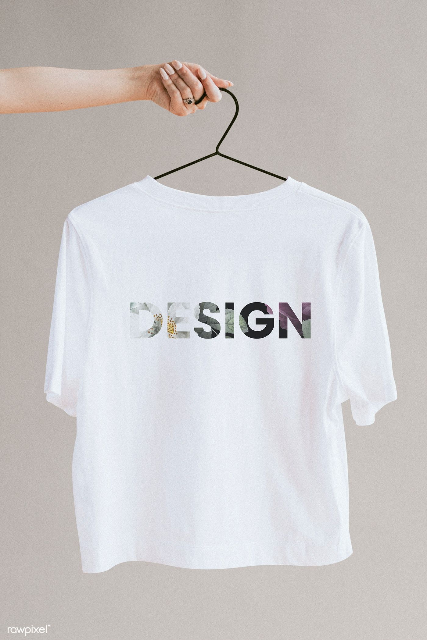 Download Download Premium Psd Of White Shirt In A Hanger Mockup 1216474 Clothing Mockup Preloved Clothes Fashion