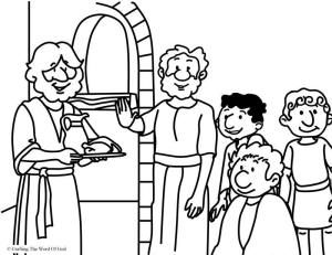 Daniel Refused The Kings Food Coloring Page Artesania Biblica