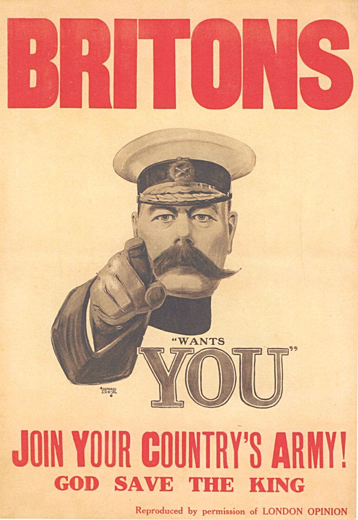 """Alfred Leete, recruitement poster """"Britons, your country wants you"""", 2014"""