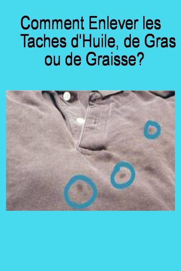 Enlever Une Tache De Gras : enlever, tache, Comment, Enlever, Taches, D'huile,, Graisse?, Lockscreen