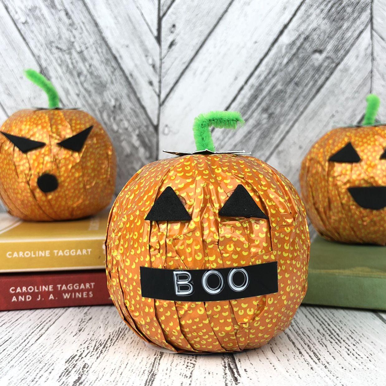 Chocolate orange pumpkin DIY for Halloween Chocolate