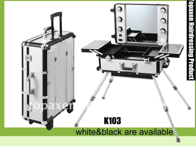 #Deluxe Studio Portable Makeup Station, #make-up station, #aluminum make up station @smartuicc is this what your sisters