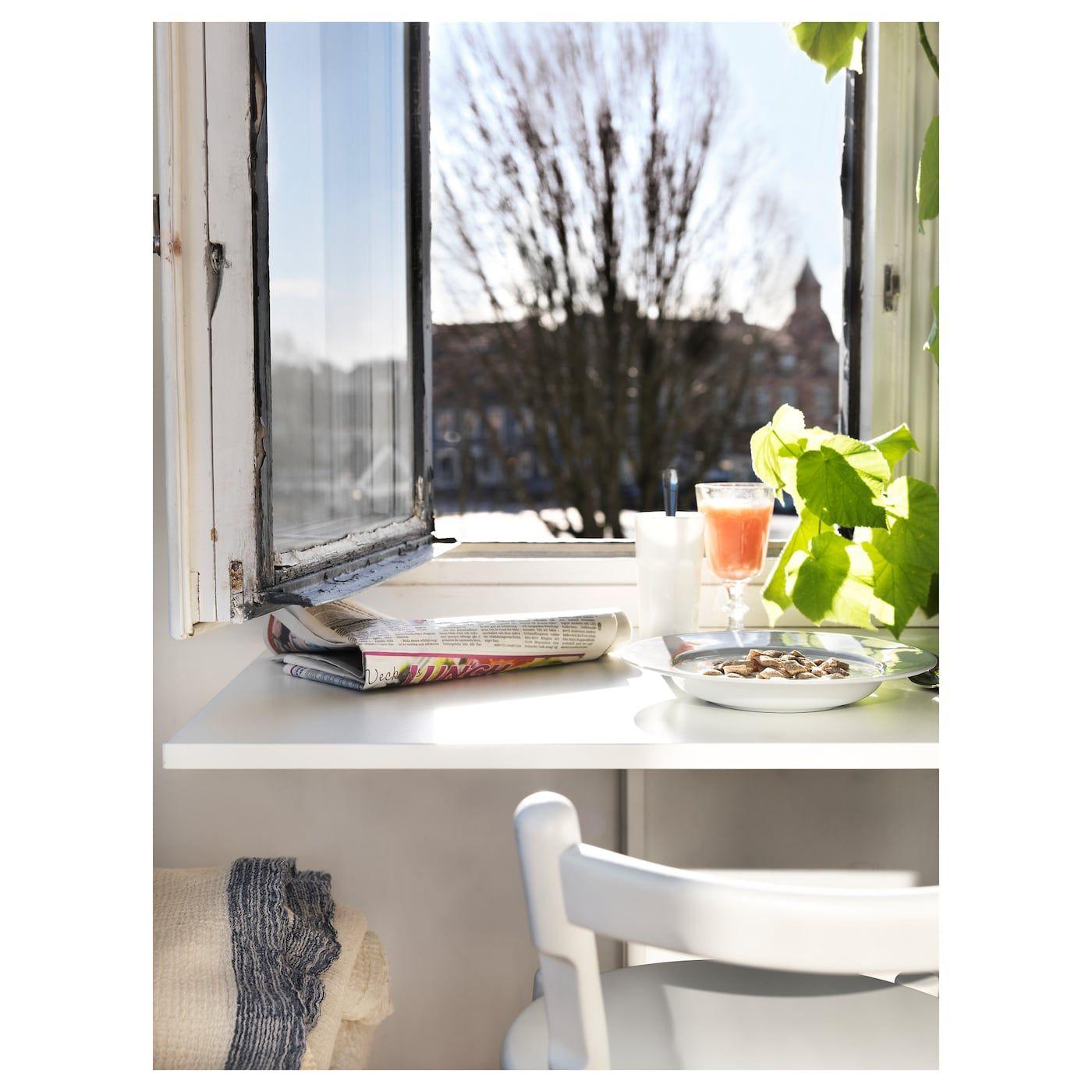 Tavolo Ribaltabile A Parete norberg tavolo ribaltabile da parete - bianco 74x60 cm