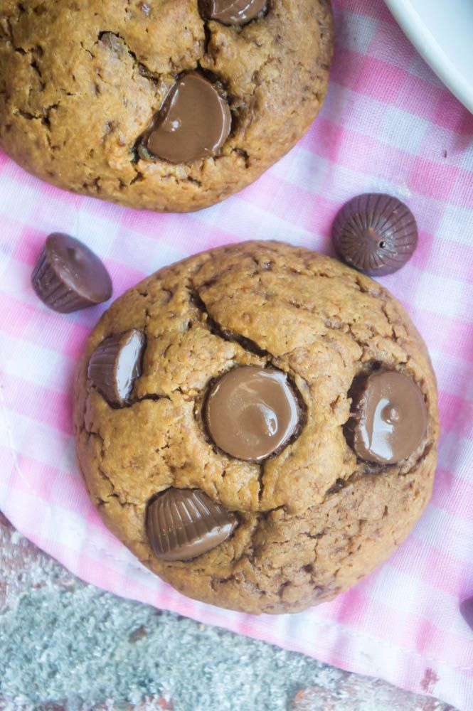 The BEST and EASIEST {Peanut Butter Cup Cookies} you will ever make! These cookies use a secret ingredient in the dough in order to achieve the ultimate pb cup flavor!  www.thenutritiouskitchen.com