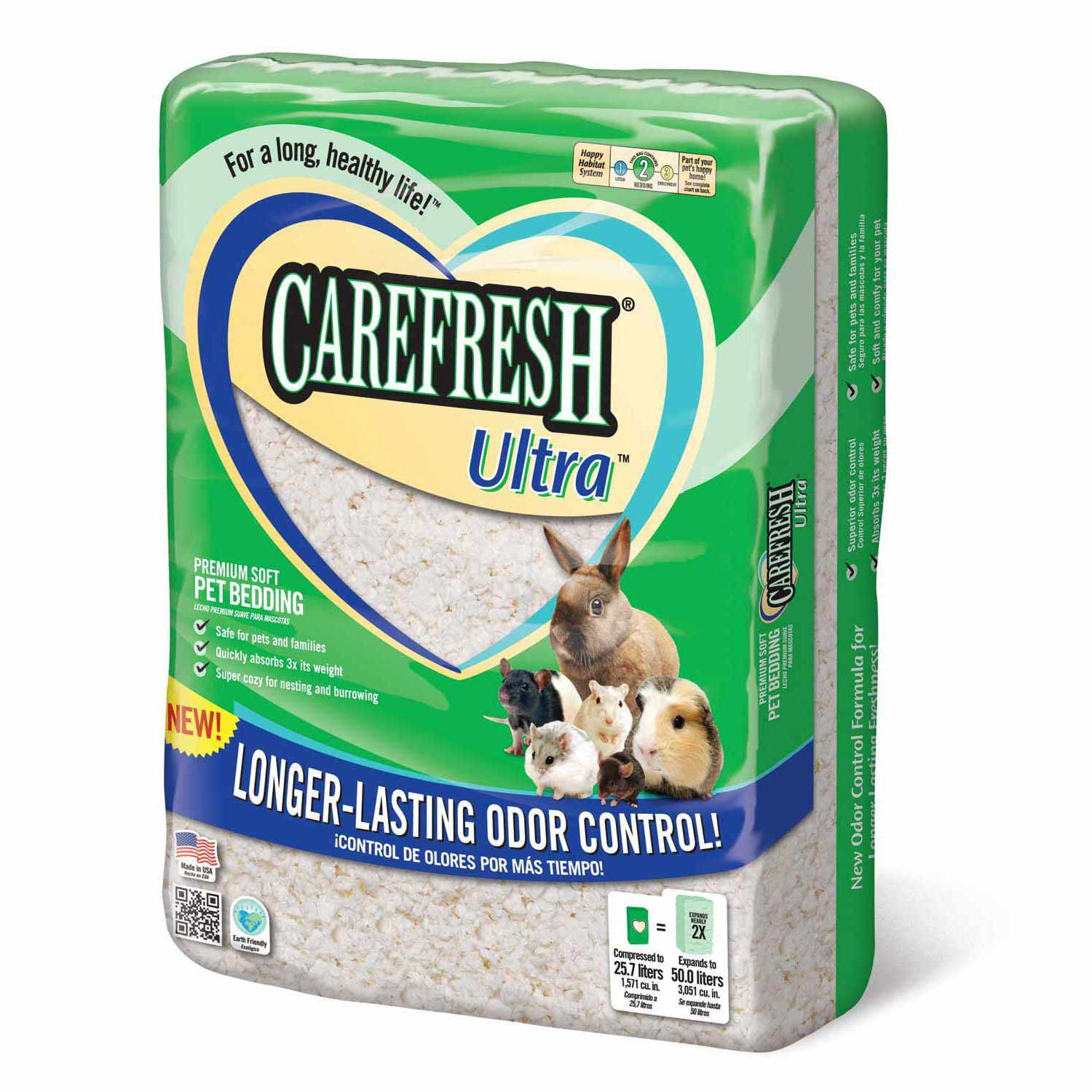 Carefresh White Small Pet Bedding, 50 Liter Pet beds
