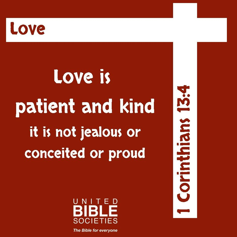Love is payient and kind Christian quotes inspirational