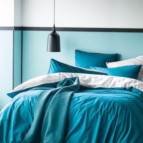 Linge De Lit Blanc Cerise Deco Chambre Bleu Chambre Bleu Deco Chambre