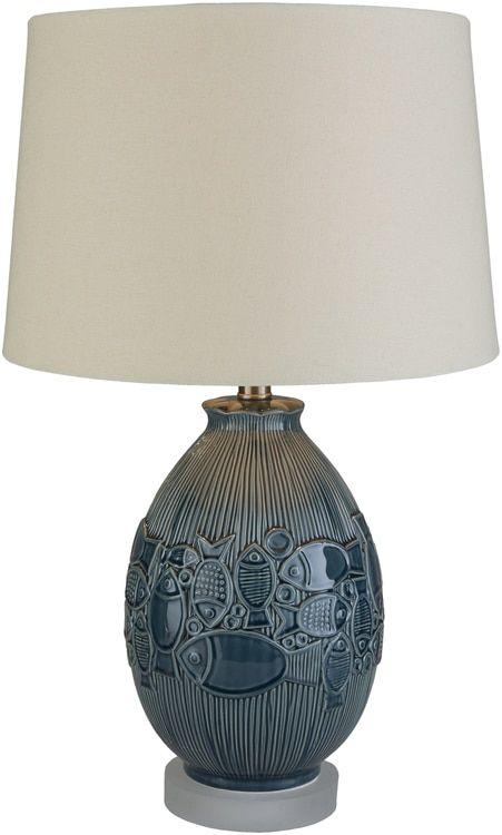 maisy go fish blue ceramic lamp coastal style ceramic table rh pinterest co uk