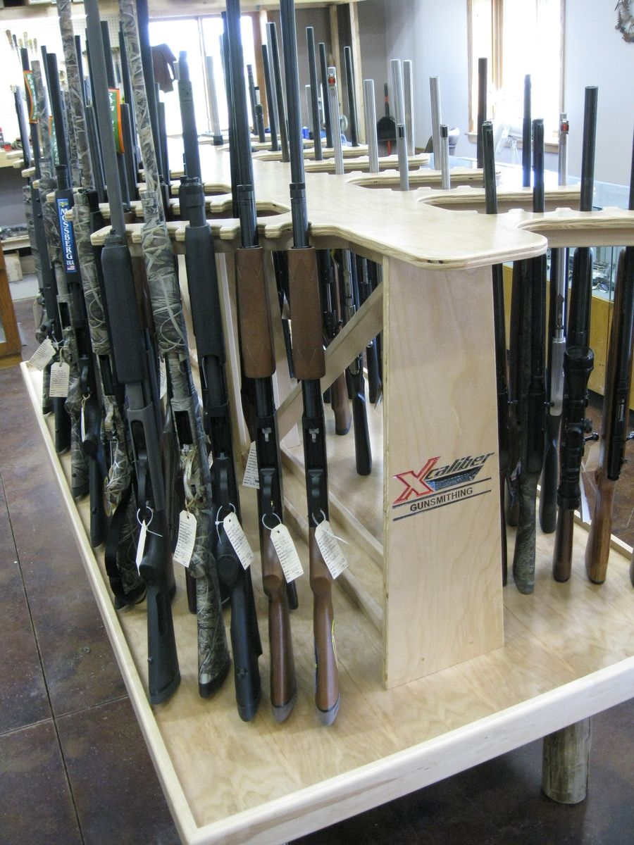 Double pistol handgun revolver gun display case cabinet rack shadowbox - The Owner Of A New Gun Shopneeded A Way To Efficiently Display A Lot Of Gun In A Small Area We Were Able To Fit 72 Guns In A X Space