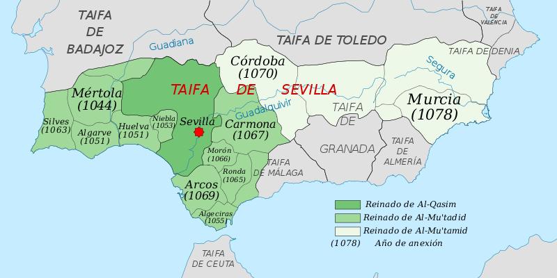 Reino De Sevilla S Xi Map Of Spain Sevilla Almeria