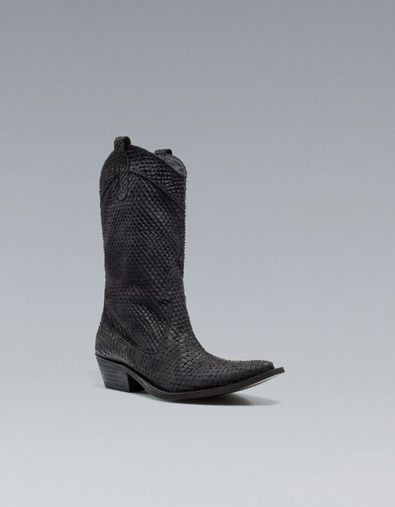 Flat Leather Ankle Boots Zara
