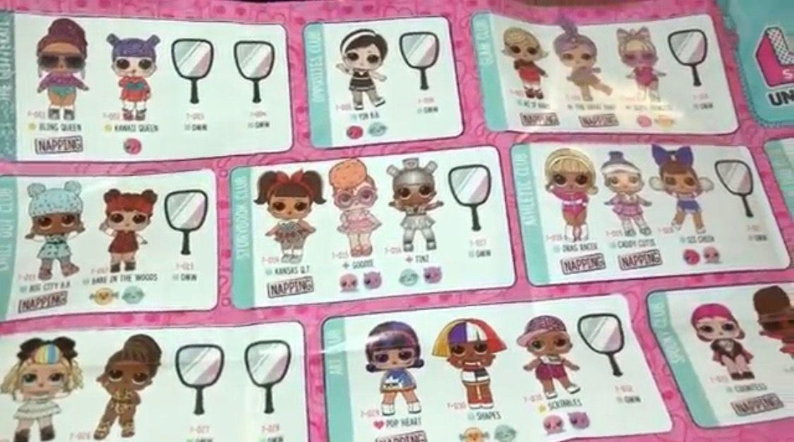 Lol Surprise Dolls Under Wraps Series 4 Wave 2 Checklist L O L