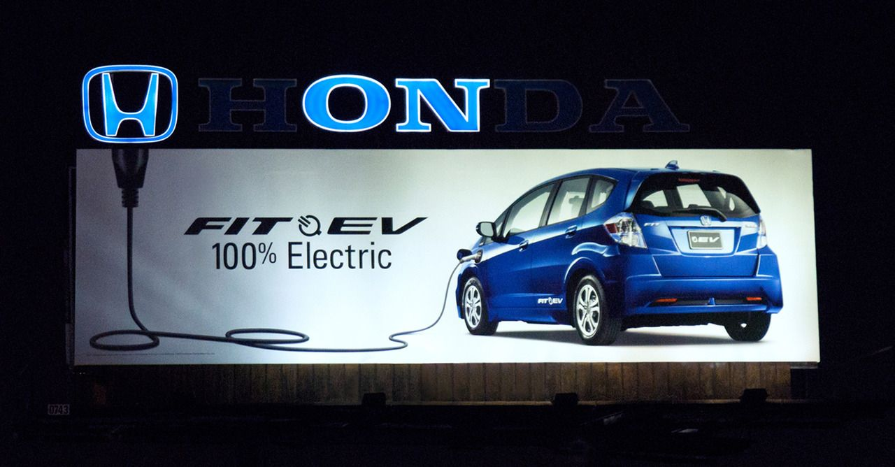 jaymug:    Honda Fit EV: Plug Billboard